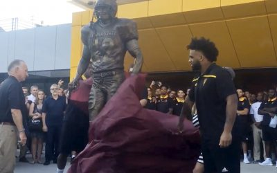 Arizona State Unveils Tillman Statue at Sun Devil Stadium